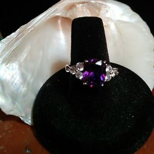 Jewelry - Amethyst and White Sapphire Ring